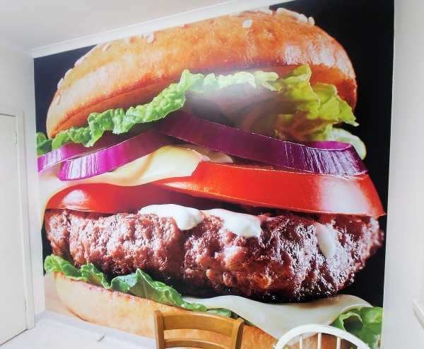 Wall Graphic Hamburger Fast Food